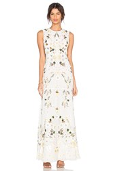 Needle And Thread Sunflower Embellished Gown White