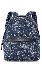 Michael Kors Grant Palm Print Backpack Midnight