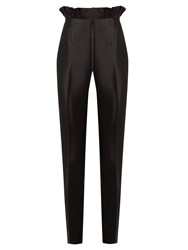 Gabriela Hearst Margarete Slim Leg Silk And Wool Blend Trousers Black