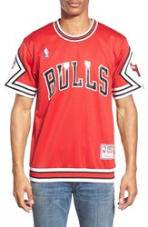 Men's Mitchell And Ness 'Chicago Bulls' Authentic Mesh Warm Up Jersey