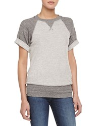 Current Elliott The Athlete Short Sleeve Sweatshirt Gray
