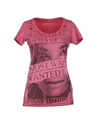 Guess Topwear T Shirts Women Garnet