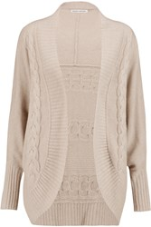 Autumn Cashmere Cable Knit Cashmere Cardigan Nude
