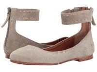 Frye Carson Ballet Ash Soft Oiled Suede Women's Flat Shoes Gray