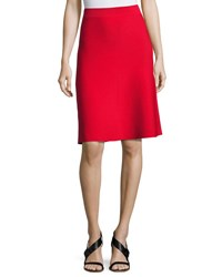 Alexander Wang Stretch A Line Flare Skirt Red