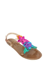 Sophia Webster Hula Flowers Glittered Jelly Flats
