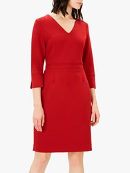Jaeger Piping Detail Dress Red