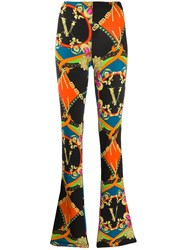 Versace Graphic Print Flared Trousers 60