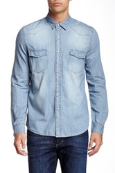Micros Riley Denim Shirt Blue