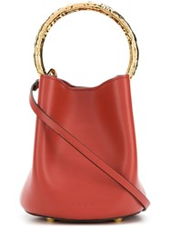 Marni Pannier Bucket Bag Red