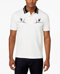 Sean John Men's Art Embroidered Polo Only At Macy's Sj Cream