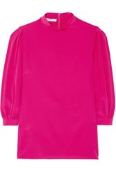 Givenchy Silk Crepe De Chine Blouse Pink