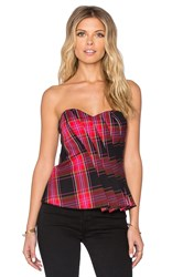 Trina Turk Liriene Tube Top Red