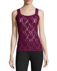 Hanky Panky Unlined Lace Camisole Red