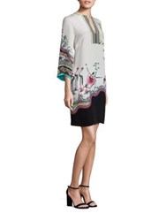 Etro Safari Silk Dress White