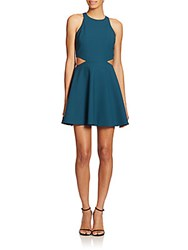 Elizabeth And James Emorie Cutout Fit And Flare Dress Blue