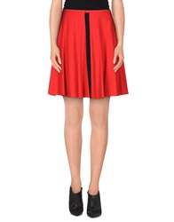 Axara Paris Knee Length Skirts Red