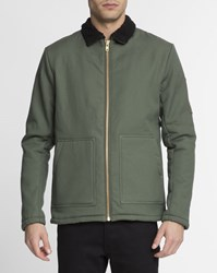 Revolution Green Fur Collar 7447 Jacket