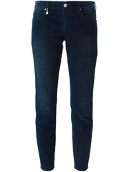 Mauro Grifoni Corduroy Cropped Trousers Blue
