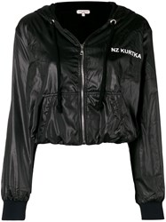 Natasha Zinko Logo Cropped Hooded Jacket Black