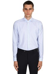Eton Stretch Fine Cotton Twill Shirt Blue
