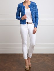 Pure Collection Denim Helen Knitted Cotton Jacket Navy