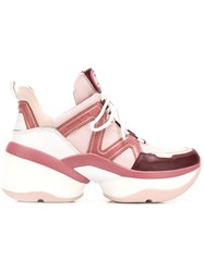 Michael Michael Kors Olympia Lace Up Sneakers Pink