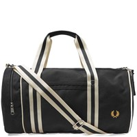 Fred Perry Twin Tipped Barrel Bag Black