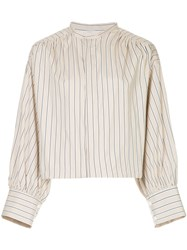Astraet Striped Fitted Shirt Brown