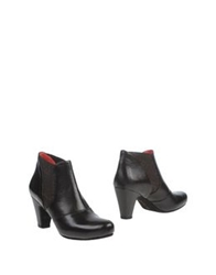 Pas De Rouge Ankle Boots Dark Brown