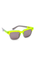 Opening Ceremony Dart Sunglasses Neon Yellow Multi Black