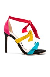 Alexandre Birman Suede Mary Heels In Abstract Black Green Pink Red Yellow Abstract Black Green Pink Red Yellow