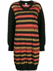 M Missoni Striped Knit Dress Black
