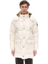 Ciesse Piumini Canada Hooded Cotton Parka Off White