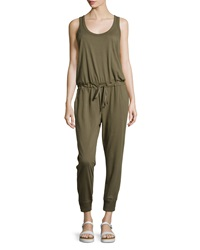 W By Wilt Scoop Neck Sleeveless Cropped Jumpsuit Military