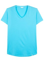 Orlebar Brown Aqua Cotton T Shirt Blue