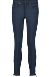 Rag And Bone Low Rise Skinny Jeans Navy
