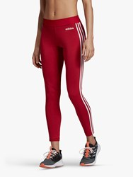 Adidas Essential 3 Stripes Training Tights Active Maroon