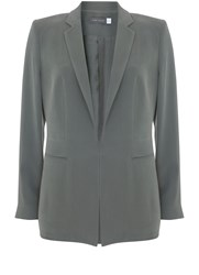 Mint Velvet Khaki Tailored Blazer Dark Green