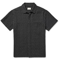 Simon Miller Polka Dot Cotton And Linen Blend Shirt Black