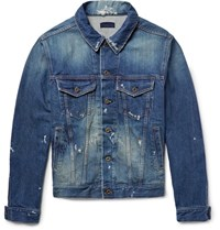 Simon Miller Distressed Denim Jacket Mid Denim
