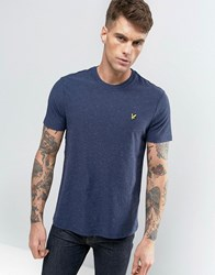 Lyle And Scott Fleck T Shirt Regular Fit Eagle Logo In Navy Navy