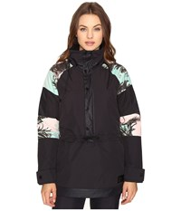 Burton Cinder Anorak Jacket Latta Palm Color Block Women's Coat