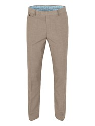Racing Green Andres Puppytooth Trousers Brown