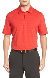 Cutter And Buck Men's Shoregrass Drytec Moisture Wicking Polo Red
