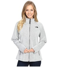 The North Face Far Northern Full Zip Vaporous Grey Heather Women's Clothing Gray
