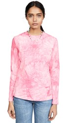 The Fifth Label Mindless Long Sleeve Tee Pink Tie Dye