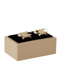 Burberry Shoes And Accessories Horse Cufflinks Unisex Gold