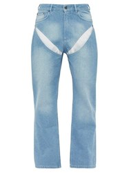 Y Project Cut Out Straight Leg Jeans Blue