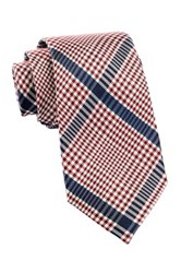 Alara Exploded Grid Plaid Silk Tie Red